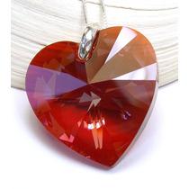 Corazón 28mm Plata Cristal Original Swarovski-elements