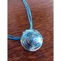 Collar Con Dije En Vitrofusión Color Celeste- Incluye Pack