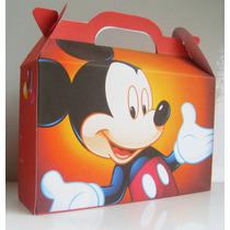 Cajita Souvenirs Mickey Mouse Pack X10 Valijitas Infantil