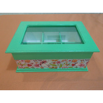 Cajas De Té Artesanales Con Decoupage Y Pintadas