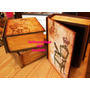 Caja Libro En Decoupage -ideal Para Guardar Valores!!!