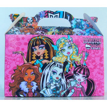 Cajita Souvenirs Monster High Pack X10 Valijitas Infantil