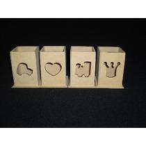 Lapiceros Fibrofacil Calados 6x6x9 (10 Unidades) Maderarte