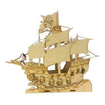 Barco Galeón Pirata En Fibrofacil Candy Bar