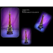 Torre Eiffel De 60cm En Fibro Facil