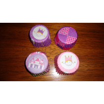 Pirotines Cupcakes Nº10 Princesas X 25 U