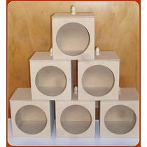 Cajas Galletitas En Fibrofacil Con Visor Y Vidrio