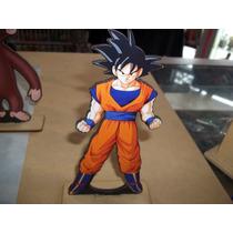 Estampaditos Goku En Fibrofacil Para Centro De Mesa De 16 Cm