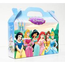 Cajita Golosinera Princesas De Disney Pack X10 Valijitas