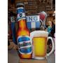 Estampaditos Cerveza Quilmes L Para Centro De Mesa De 16 Cm