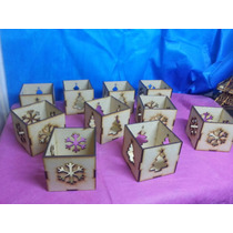 Fanales Navidad De 8x8x8 X 10 Unidades Mdf Fibrofacil