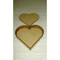 Caja Corazón Corte Laser Fibrofacil