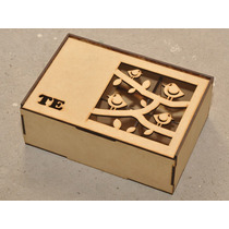 10 Cajas De Té Tapa Calada 6 Div. Fibrofacil