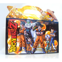 Cajita Golosinera Dragon Ball Z Pack X10 Valijitas Infantil