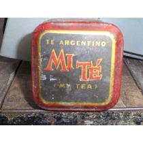 Antigua Cajita De Te Mi Te