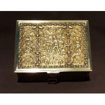 Historical*-importante Cofre Francés Bronce-querubines-envío