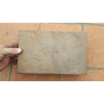 Antigua Caja De Madera Ex-primeros Auxilios