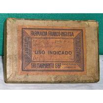 Antigua Caja De Farmacia Franco Inglesa De C.j.badaracco