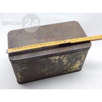 Antigua Gran Caja De Latón Totalmente Despintada 30.5x16x16.