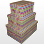 Caja Baulera De Carton Con Manija 48 X 36 X 22