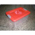 Caja Plastica C/ Tapa Y Trabas Organizadora 60 Ltrs Apilabl