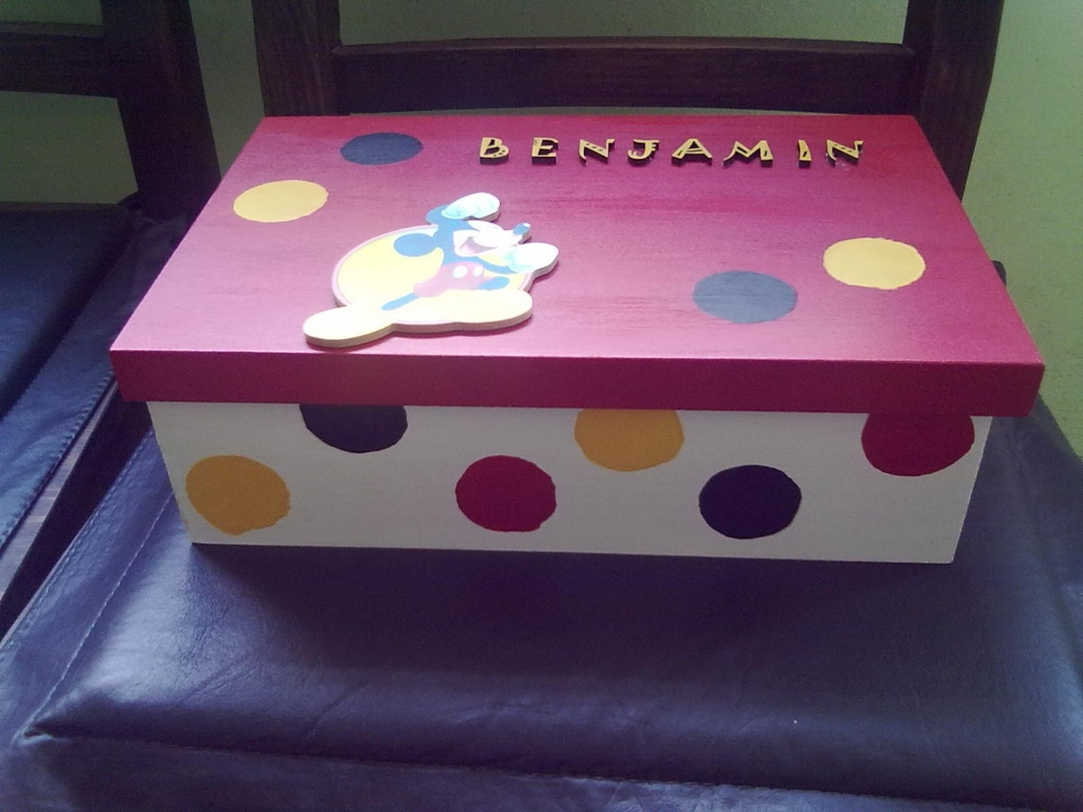 Cajas decoradas para beb s imagui - Cajas decoradas para bebes ...