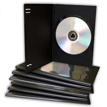 10 Estuches Dvd 7mm Slim Negros Resistentes Y De Calidad
