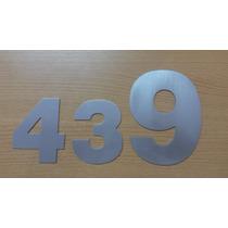 Numeros Y Letras De Aluminio Con Laca - Diferentes Medidas