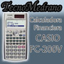 Calculadora Financiera Casio Fc-200v Todas Y Hp Tecnomedrano