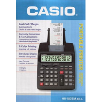 Calculadora Impresora Casio Hr-100tm 12 Digitos 2 Colores