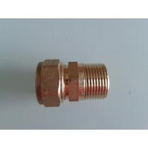 Conector Bronce Caño Pex 20 Mm A Rosca 3/4