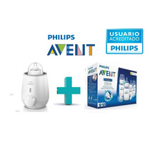Combo Avent Calienta Mamaderas+set Mamaderas+chupete+cepillo