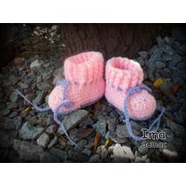 Escarpines Y Pantuflas Tejidas Al Crochet