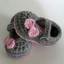 Escarpines, Zapatitos A Crochet Para Bebes De Lana O Algodon