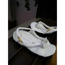 Hermosas Ojotas Al Crochet Bebe