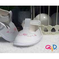 Sandalias Blancas Para Beba Bautismo Casamiento Fiestas