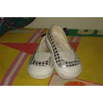 Zapatos Nena Zuppa Con Lentejuelas Plateadas, Talle 21