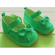 Guillerminas Zapatitos Verdes Suela Goma Caminantes Nenas