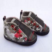 Zapato Para Bebé Gorditoo - Zapatilla Camuflada Tela/jean