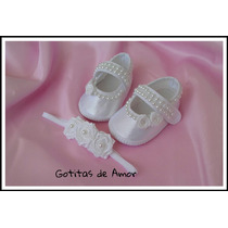 Originales Zapatitos Beba Ideal Bautismo,eventos No Caminant