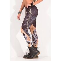 Calzas Mujer Labellamafia Dorada Legging Talle De Cráneo