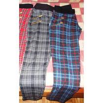Calzas Cuadrille (escocesas) Con Cierre