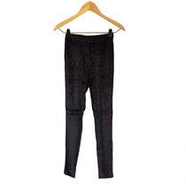 Clippate Calzas Leggins Pantalon Chiffon Estampada Negra