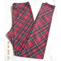 Calza Lanilla Escocesa Roja - Abrigadas Y Preciosas!