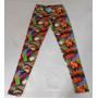 Calzas Estampadas Colores Pop Art T1 Colores Elastizadas