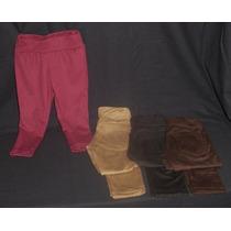 Calzas Nena Gamuza Varios Colores Cintura Bolsillos Traseros