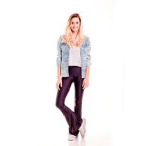 Calzas Leggins Negras Lycra Oxford Mujer Pantalon Brillosas