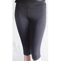 Calzas Capri Color Negra Elastizadas Comodas Oportunidad!!!