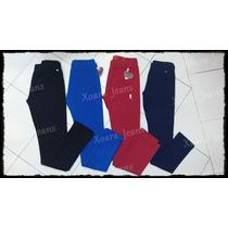 Calzas Algodón C/ Lycra Tiro Alto Vs Colores - Xoara Jeans
