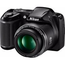 Nikon L340 20mpx 28x Lcd 3 + 16gb Cl10 + Bolso + Tripode